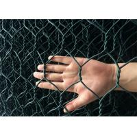 Foldable Reno Gabion Wire Mesh Green Color PVC Coated Wire Mesh Mattress Manufactures