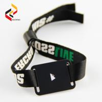 Adjustable Passive RFID Wristband Price Fabric RFID Wristband Bracelet NFC NTAG213 Waterproof Smart RFID Band Manufactures