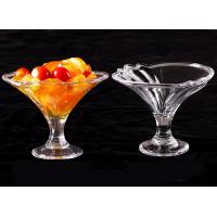 China PC ice cream cup transparent cold drink dessert bowl plastic ice cream cup imitation glass smoothie cups on sale