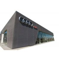 Perforated Metal Screen Facade 26mm X 61mm Hexagonal Hole For 4S Shop Decoration Manufactures