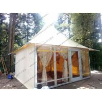 White PVC Event Tent Aluminum Structure Pagoda , High Peak Tent 5 X 5m With Decoration Manufactures