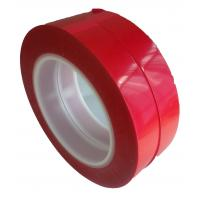 75um Thickness 55M Film Splicing Tape Red  Base Material For Label Printing Manufactures