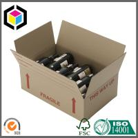 Red Wine Bottle Corrugated Shipping Box; Flexo Color Print Shipping Box Manufactures