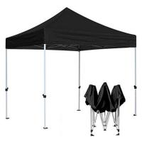 Black Promotion Marquee Canopy Tent Aluminum Structure Easy To Transport