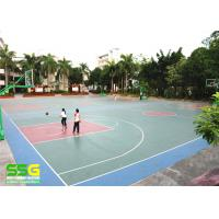 Buy cheap Eco-friendly SPU sports flooring material rubber floor mat basketball flooring from wholesalers