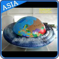Quality Filled Helium Earth Balloons Globe with 0.18mm PVC  ,  Advertising Planet  Ball for sale