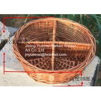 2016 new round shape wicker living room table storage basket 4 partitions Manufactures