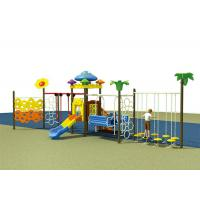 Colorful Childrens Single Swing , Baby Swing And Slide Set Outdoor Slide Playground Equipment Manufactures