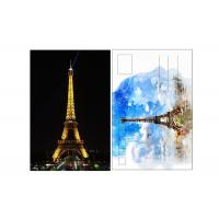 11x16cm Paris Eiffel Tower Day - Night 3D Lenticular Postcard With CMYK Printing Manufactures