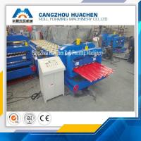 Building Material Aluminum Roof Glazed Tile Roll Forming Machine For Gardens , Factories Manufactures