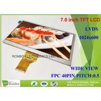 7.0 Inch TFT LCD Module Display Replace N070LGE - L41 1024 x 600 LVDS Interface Manufactures