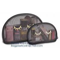 Cosmetic Bags Zip Makeup Mesh Bags Pencil Case Pouch Travel Toiletry Kit Set