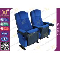 Lounge Back Folding Movie Theater Chairs With Spring / Theatre Room Chairs Manufactures