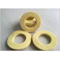 China Industrial Sealing Felt  Needle Punched Kevlar Ring Used As Seal Ring Pad Yellow on sale