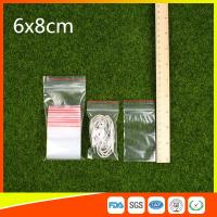 Polythene Clear Ziplock Bags Self Press Bags Grip Seal Bag With Red Lines Manufactures