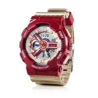 Digital Watch with Stainless Steel Case Back, 5ATM Water Resistant Quartz Chronograph Watch,Digital Sport Watches