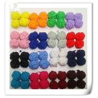 China Silk knot cufflink with single color on sale