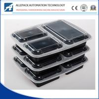 Microwavable Takeaway Disposable Plastic 3 Compartment Food Containers With Lids Manufactures