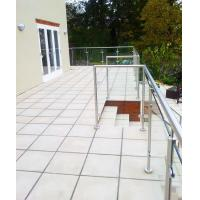 Terrace Glass Railing/ Glass Balustrade with Stainless Steel Post Manufactures