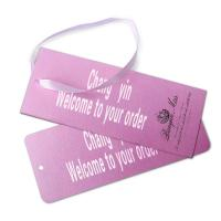 White Cardboard Custom Card Printing Paper Hanging Tag Gift Card For Clothes Manufactures
