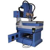 China Granite marble stone cnc router machine with smaller worktable and 2 heads on sale