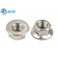 Buy cheap Hex Head Flange Nuts Fully Threaded Iron / Alloy Steel Material Metric Standard from wholesalers
