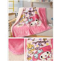 Double Ply Warm Sherpa Blankets Cartoon Printed For Baby / Children Skin Friendly Manufactures