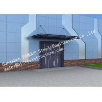 Automatic Glass Sectional Industrial Garage Doors Steel Buildings Kits Superior Weather Resistance Manufactures