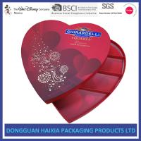 China Premium Chocolate Cardboard Gift Boxes Art Paper Materials With Plastic Tray on sale