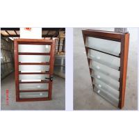 Glass Vertical Louvered Window Shutters Interior Double Toughened Glazing For Sale Of