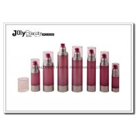 Cylindrical Cosmetic Airless Pump Bottles For Personal Care Packaging Manufactures