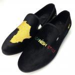 Wear Resistant Mens Velvet Loafers , Men Casual Shoes With Black Color Manufactures
