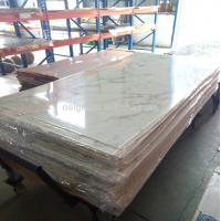 China Crack marble acrylic sheet in black or white on sale