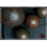 Air Hammer Forging Hot Rolling Steel Balls , Grinding Media Steel Balls Manufactures
