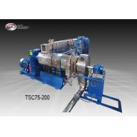 China Twin Stage Cable Extrusion Line / Low Speed Cable Manufacturing Machine on sale