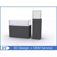 Buy cheap Wooden Semi Gray Finish Jewelry Display Cabinets Fully Assembly from wholesalers