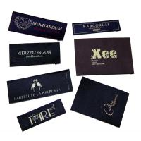 50D Polyester Yarns Clothing Woven Labels custom color size For Clothes / Gifts Manufactures