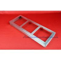 Rectangular Stamping Metal Parts Wine Exhibition Seat With Brush Finished Manufactures