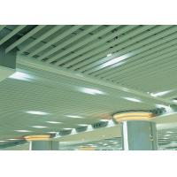 Quality Fashion Plug-in Blade Aluminium Baffle Ceiling J Shaped For Metro for sale