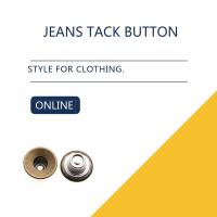 Antique Brass Custom / Inlaid Jeans Tack Shank Button /  Leather Clothing Bulk Trims Manufactures
