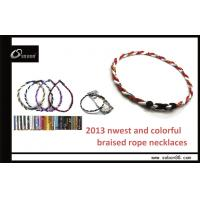 China Popular Health Balance Sports Magnetic Tornado Titanium Necklace on sale