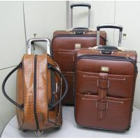 China Set of 4 softside leather Trolley case luggage,  size of 20' / 24' / 28' / 32' inches, on sale