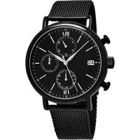 Quality Men's Quartz Chronograph Bracelet Watch with Stainless Steel Mesh Bracelet for sale