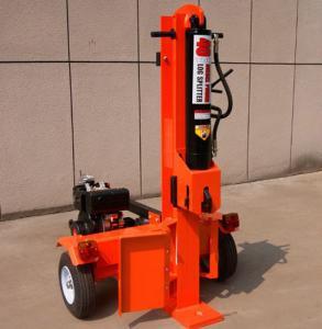 China Horizontal and vertical 42 ton hydraulic wood log splitter, gasoline log wood splitter, firewood log splitter on sale