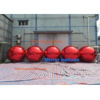 Christmas Mirror Balloons Red Gloden Blue Silver Color Can Keep Air 1 Year Manufactures