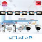 Smart video door bell connect 6 monitors room to room interphone door video phone Manufactures