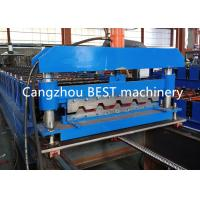 China Fast Speed IBR Roofing Corrugated Iron Sheet Making Machine CE / ISO Pass on sale