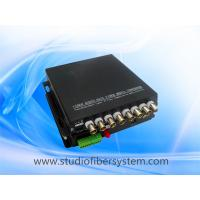 compact 8CH TVI video audio fiber transmitter and receiver for remote CCTV surveillance system Manufactures