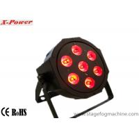 High-Brightness 7 pcs * 3 in 1 / 4 in 1 Led Flat Par Light , Par 65 Led Lights Manufactures