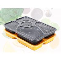 China Premium 5 Department PP Food Trays Disposable Plastic Food Containers With Lids on sale